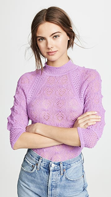 See by Chloe Pointelle Pullover