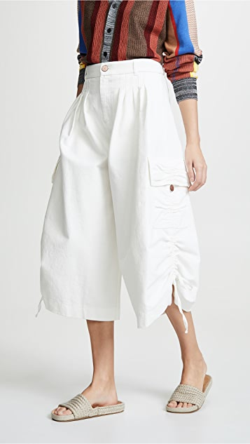 See by Chloe Cropped Cargo Pants