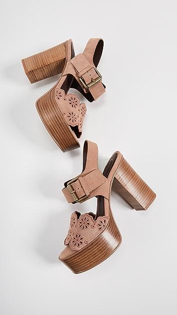 See by Chloe Krysty Foral Platform Sandals