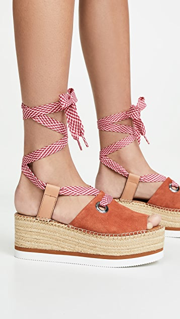 See by Chloe Glyn Amber Lace Up Espadrilles