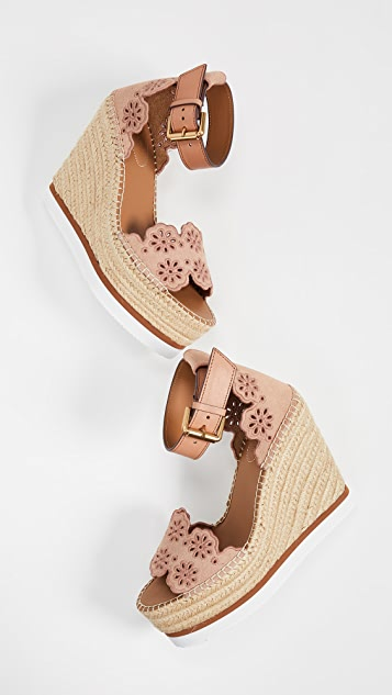 See by Chloe Glyn Wedge Espadrilles