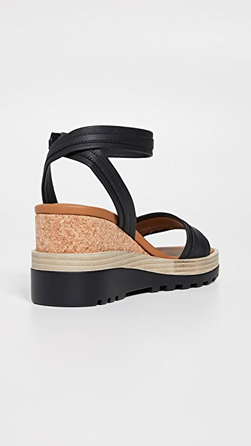 See by Chloe Robin 坡跟凉鞋