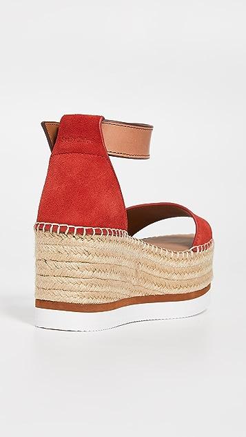 See by Chloé Glyn 中帮坡跟编织鞋