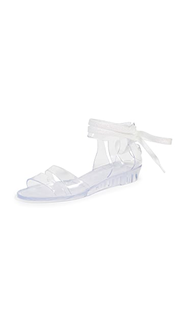 See by Chloe Amy Lace Up Jelly Sandals