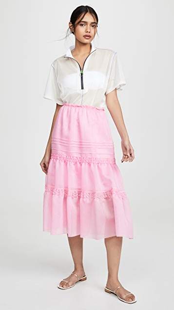 See by Chloe Tiered Neon Skirt