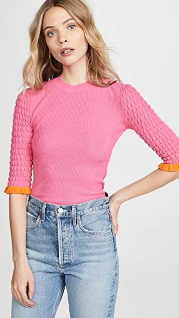 See by Chloe Half Sleeve Knit Sweater