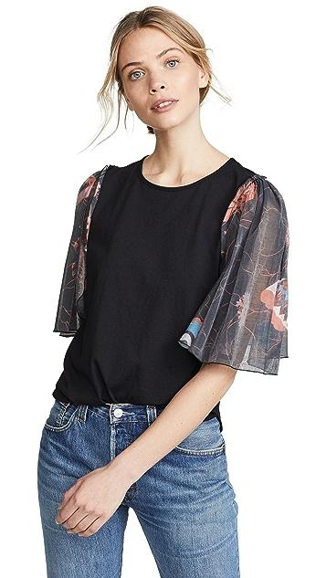 See by Chloe Print Sleeve T-Shirt