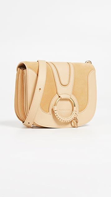 See by Chloe Hana Medium Saddle Bag - Straw Beige