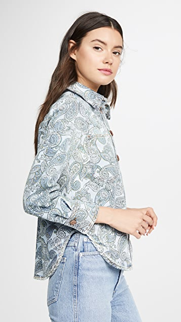 See by Chloe Paisley Print Denim Jacket / Shirt