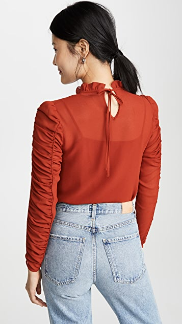 See by Chloe Ruffle Neck Blouse