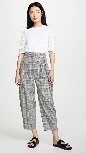 See by Chloe Plaid Trousers