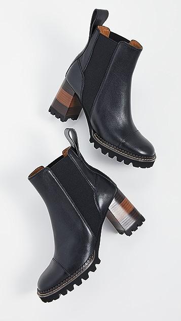See by Chloe Mallory Chelsea Lug 70mm Heel Booties