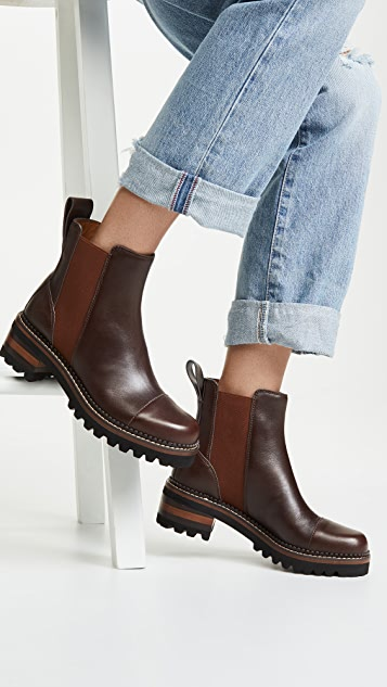 See by Chloe Mallory Chelsea Flat Booties