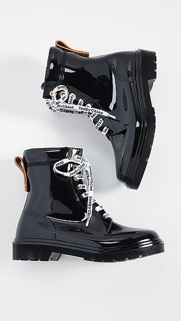 See by Chloe Резиновые сапоги со шнуровкой Florrie