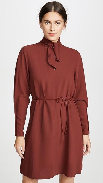 42a0c79770 Tie Neck Long Sleeve Dress