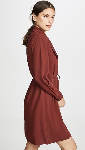 See by Chloe Tie Neck Long Sleeve Dress