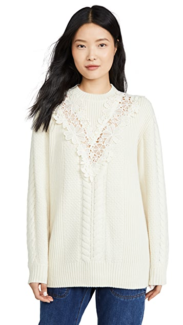 See by Chloe Lace Detail Pullover