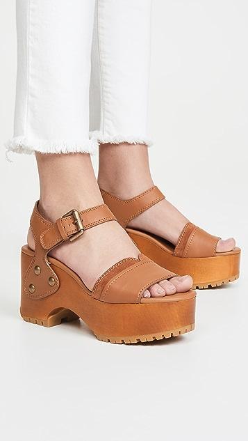 See by Chloé Saya 木底凉鞋