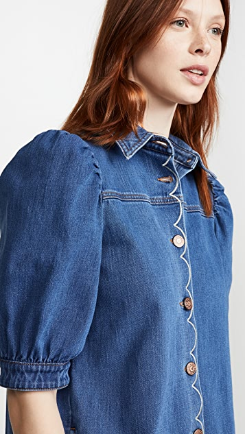 See by Chloe Button Front Denim Dress