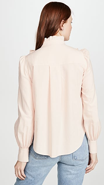 See by Chloe Ruffle Front Blouse