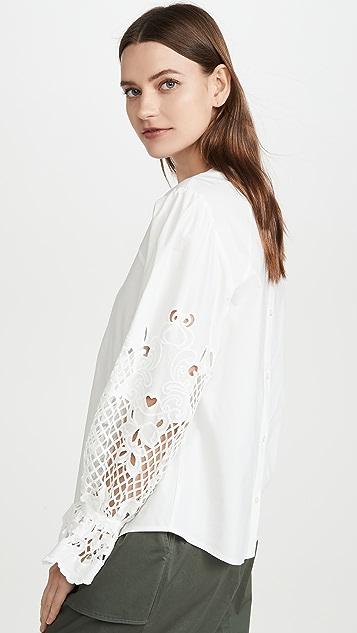 See by Chloe 圆孔衣袖女式衬衫