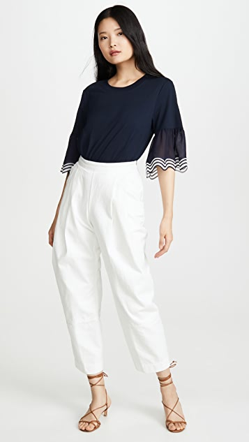 See by Chloe Scallop Sleeve Tee
