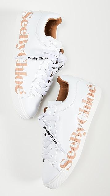 See by Chloe Essie 徽标运动鞋