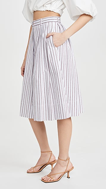 See by Chloe Striped Midi Culottes