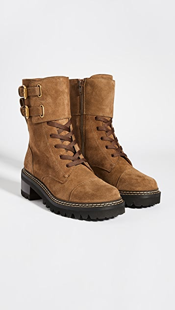 See by Chloe Combat Mallory Boots
