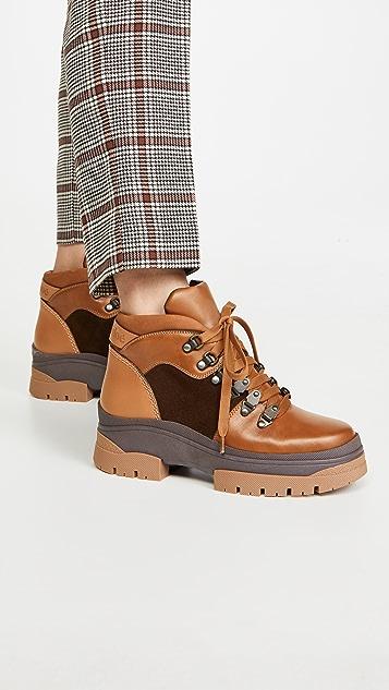 See by Chloe Aure 平底登山靴