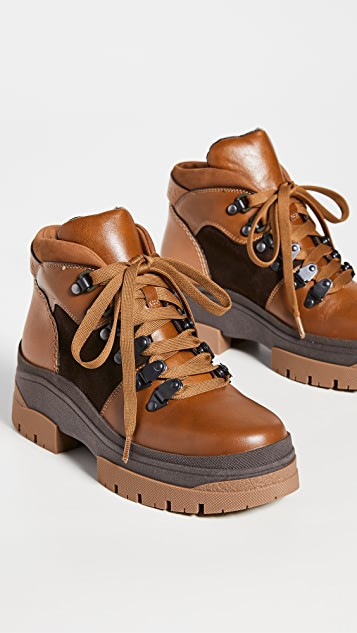 See by Chloe Aure Flat Hiker Boots