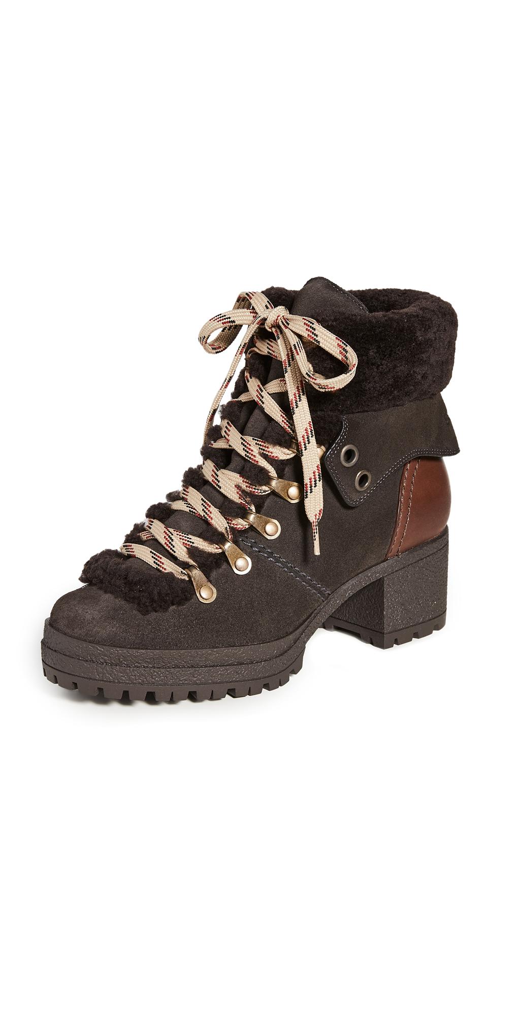 See by Chloe Eileen Block Heel Ankle Boots