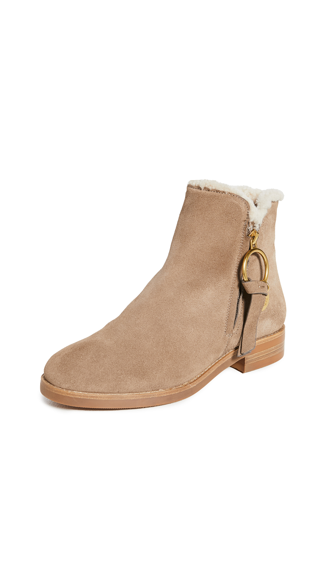 See by Chloe Louise Shearling Ankle Boots