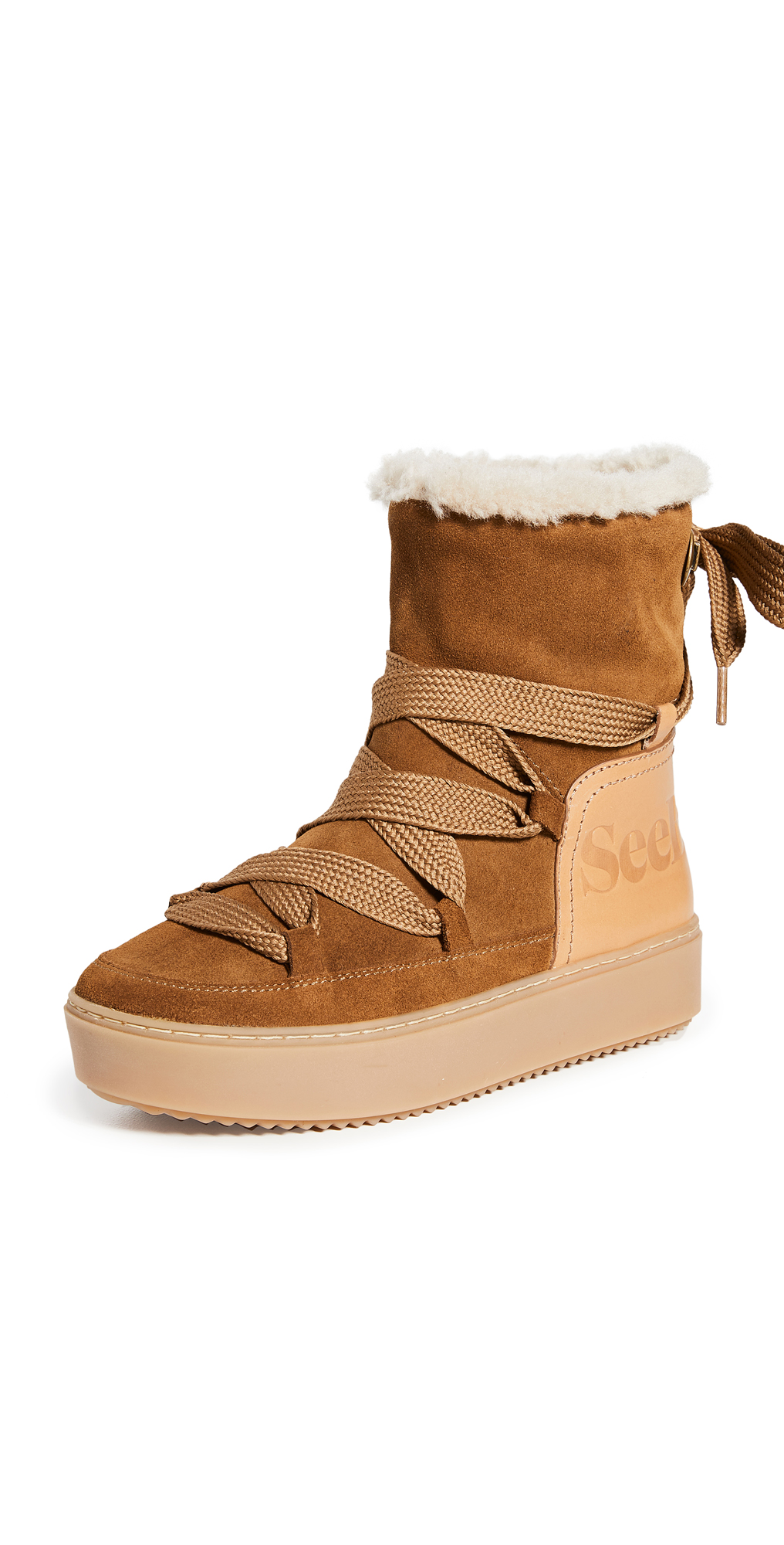 See by Chloe Charlee Shearling Ankle Boots