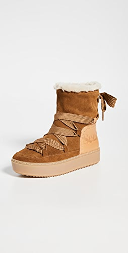 See by Chloe - Charlee Shearling Ankle Boots