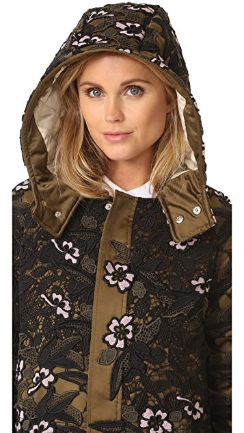 Self Portrait Lace Parka