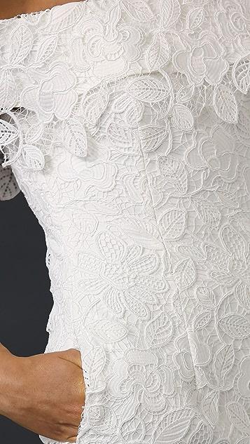 Self Portrait Off Shoulder Lace Gown