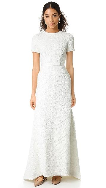 fad4342e2454 Self Portrait White Roses Gown | SHOPBOP