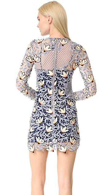 Self Portrait Patchwork Mini Dress