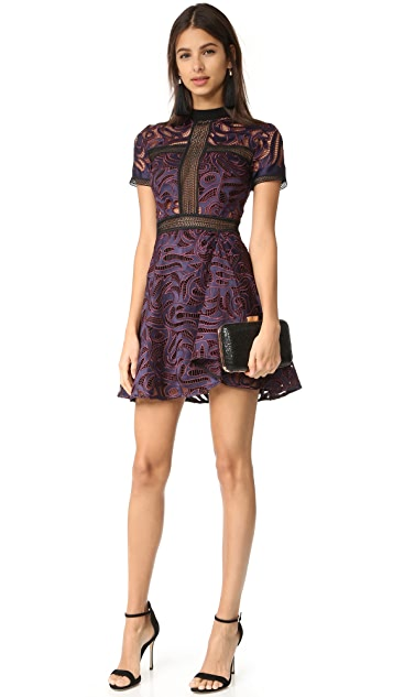 Self Portrait Eliza Cutwork Mini Dress