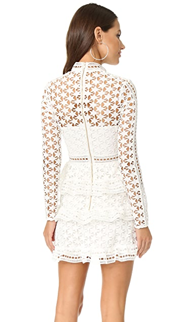 9092072b10 ... Self Portrait High Neck Star Lace Dress ...