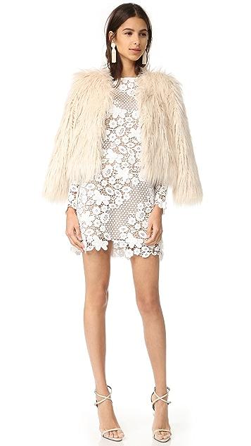 Self Portrait 3D Floral Mini Dress