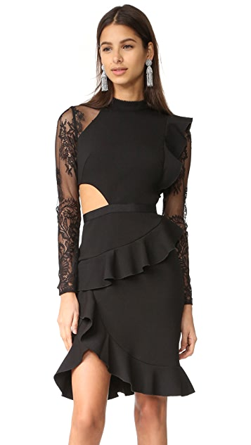 Self Portrait Ophelia Long Sleeve Dress