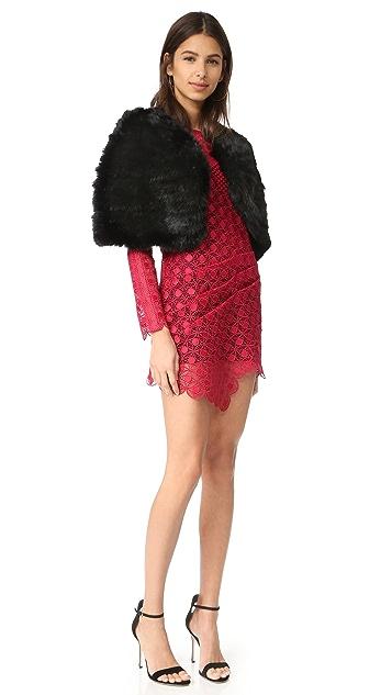 Self Portrait Strike Mini Dress