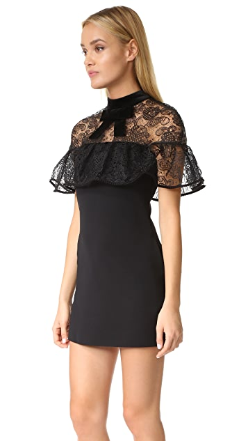 Self Portrait Line Lace Mini Dress