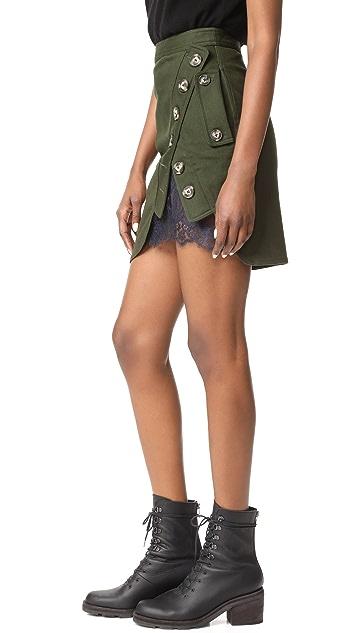 Self Portrait Utility Miniskirt