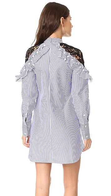 Self Portrait Платье с кружевом на плечах