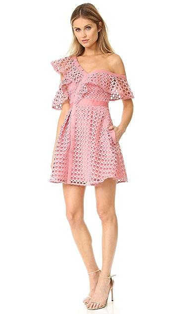 Self Portrait Lace Frill Mini Dress