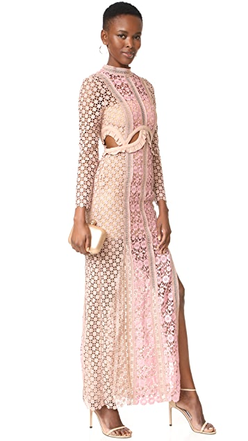 abbf9b5ae544 Self Portrait Payne Cutout Maxi Dress | SHOPBOP