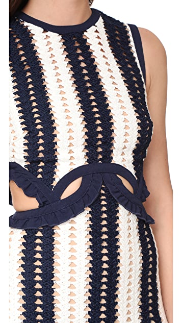 Self Portrait Crochet Cutout Dress